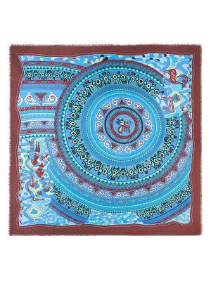 Платок Eleganzza. Цвет: бирюзовый, голубой, темно-красный