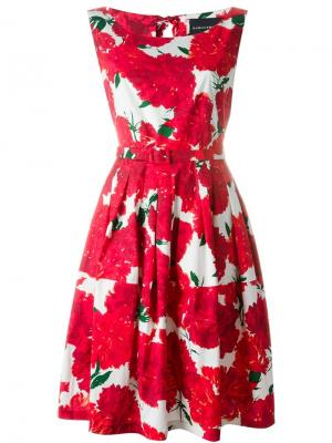 Платье с цветочным принтом Samantha Sung. Цвет: белый