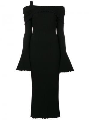 Платье с приспущенными плечами Ellery. Цвет: чёрный