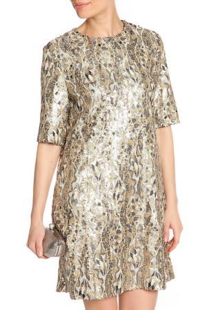 Платье мини, пайетки NATALIA PICARIELLO. Цвет: серебряный