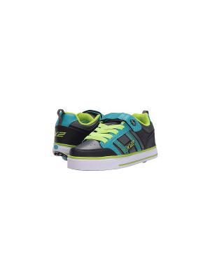 Роликовые кроссовки Heelys Bolt Plus X2. Цвет: черный, бирюзовый, салатовый