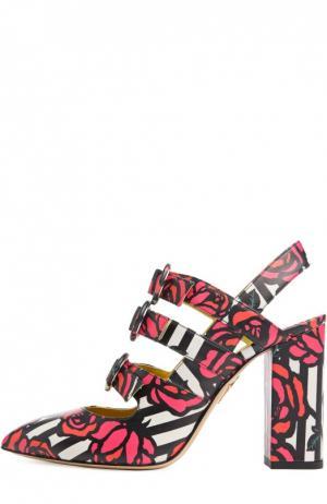 Кожаные туфли Amanda с принтом Charlotte Olympia. Цвет: разноцветный