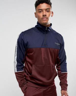 Illusive London Бордовая спортивная куртка с отделкой лентой. Цвет: красный