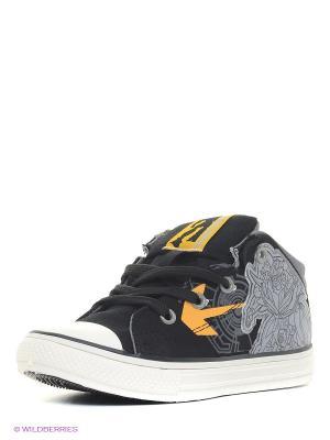 Кеды Kakadu. Цвет: черный, желтый
