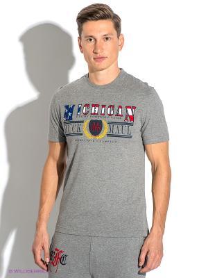 Футболка Ruck&Maul. Цвет: серый меланж, красный, желтый