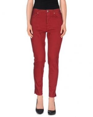 Джинсовые брюки PEOPLE. Цвет: красно-коричневый