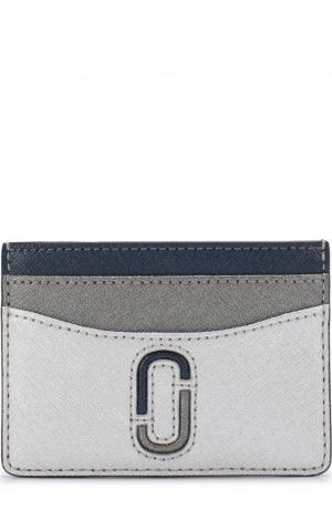 Кожаный футляр для кредитных карт Marc Jacobs. Цвет: серебряный