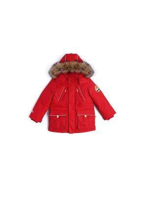 Куртка пуховая NELS. Цвет: красный