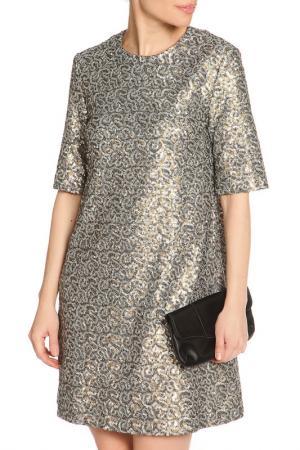 Платье мини, пайетки NATALIA PICARIELLO. Цвет: темно-серый