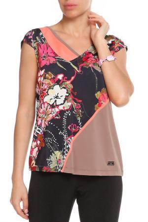 Топ Paola Joy. Цвет: коричневый, розовый