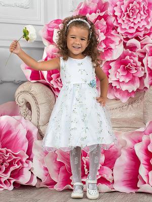 Платье Perlitta. Цвет: белый, зеленый, розовый