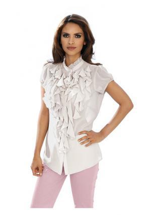Блузка Ashley Brooke. Цвет: белый, бирюзовый, розовый