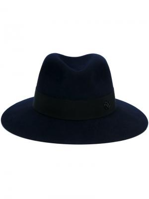 Фетровая шляпа Henrietta Maison Michel. Цвет: синий