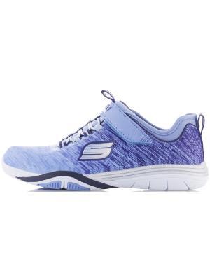 Кроссовки для девочек SKECHERS. Цвет: голубой, синий