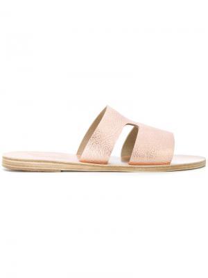 Apteros metallic sandals Ancient Greek. Цвет: розовый и фиолетовый