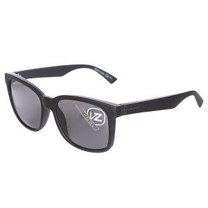 Очки  Howl Black Smoke Satin/Grey Von Zipper. Цвет: черный