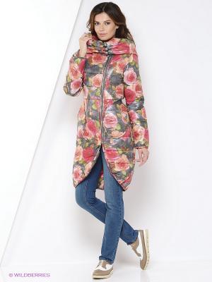 Пальто YUVITA. Цвет: розовый