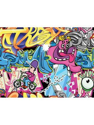 Art Холст Граффити - 7 30х40 см DECORETTO. Цвет: белый, голубой, фуксия