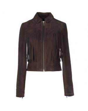 Куртка MUUBAA. Цвет: темно-коричневый