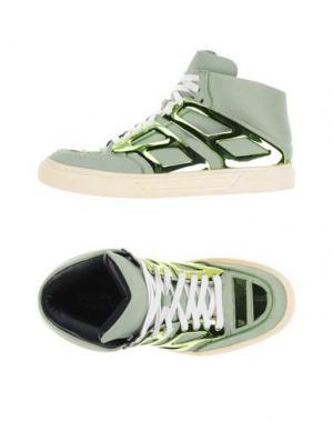 Высокие кеды и кроссовки ALEJANDRO INGELMO. Цвет: кислотно-зеленый
