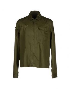 Pубашка BLAUER. Цвет: зеленый-милитари