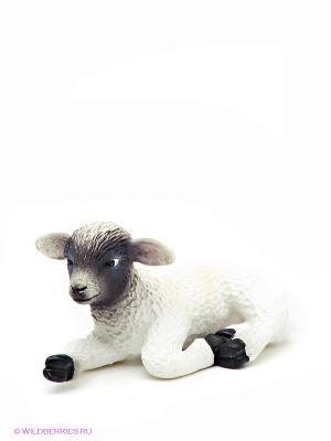 Мериносная овечка лежащая MOJO. Цвет: белый, черный