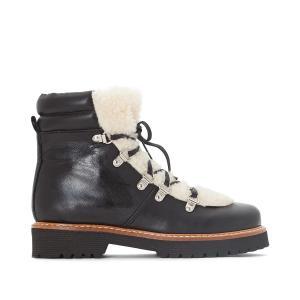Ботинки кожаные в горном стиле JONAK. Цвет: черный