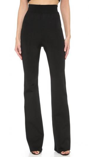 Трикотажные брюки с высокой талией Cushnie Et Ochs. Цвет: голубой