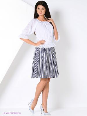 Комплект одежды Kristina. Цвет: белый, синий