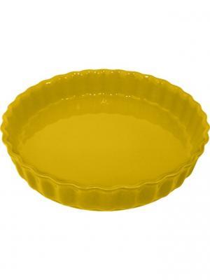 Блюдо для пирога 28х28х5 см Appolia. Цвет: светло-оранжевый