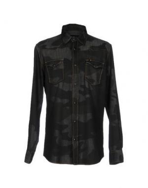Джинсовая рубашка HYDROGEN. Цвет: свинцово-серый