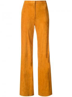 Длинные прямые брюки Adam Lippes. Цвет: жёлтый и оранжевый