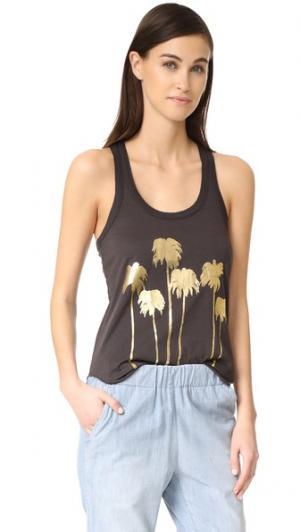 Майка Golden Palms Chaser. Цвет: голубой