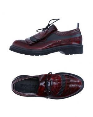 Обувь на шнурках LE QARANT. Цвет: красно-коричневый