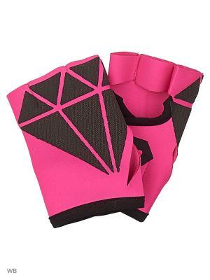 Спортивные перчатки для фитнеса DIAMONDS Malinasport. Цвет: розовый