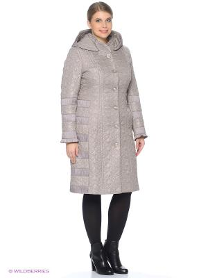 Стеганое пальто Brillare. Цвет: бежевый