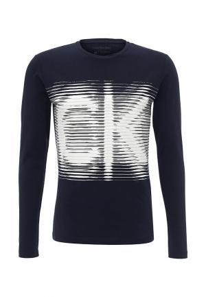 Лонгслив Calvin Klein Jeans. Цвет: синий