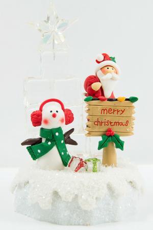 Композиция Ледяная ёлка Christmas. Цвет: мультицвет