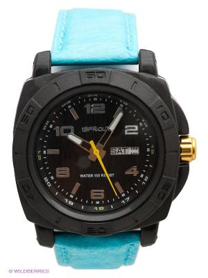 Часы Sprout. Цвет: бирюзовый, черный