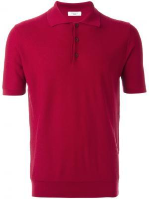 Трикотажная рубашка-поло Fashion Clinic Timeless. Цвет: розовый и фиолетовый