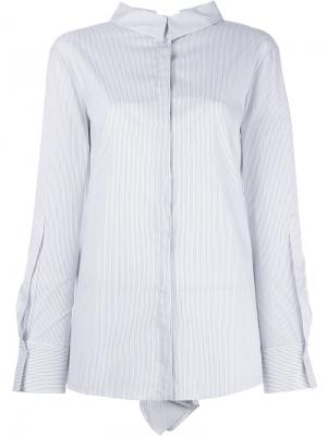 Полосатая рубашка с плиссированными рукавами Dorothee Schumacher. Цвет: белый