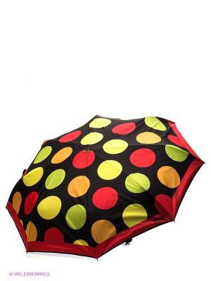 Зонт MOSCHINO. Цвет: черный, желтый, красный, салатовый