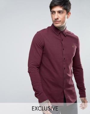 Farah Красная эксклюзивная трикотажная рубашка из пике. Цвет: красный