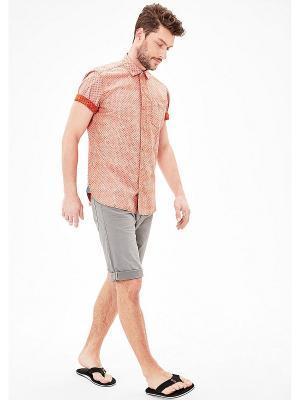 Рубашка Slim S.OLIVER. Цвет: кремовый, бледно-розовый, персиковый