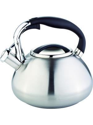Чайник со свистком 3литра. RAINSTAHL. Цвет: черный