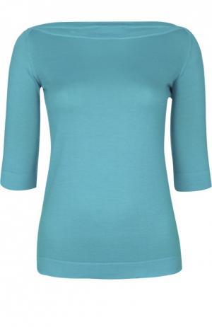 Вязаный свитер Colombo. Цвет: голубой