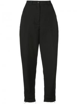 Зауженные брюки с необработанным подолом Rachel Comey. Цвет: чёрный