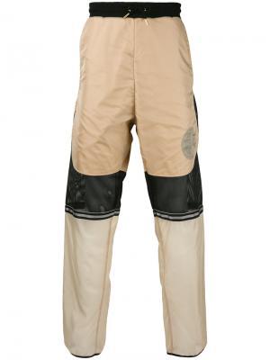 Спортивные брюки с прозрачными панелями Astrid Andersen. Цвет: телесный