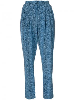 Зауженные брюки с принтом Philosophy Di Lorenzo Serafini. Цвет: синий