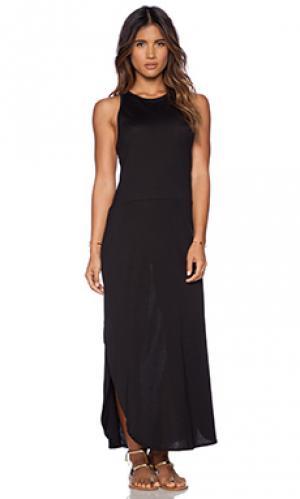 Макси платье santorini OLYMPIA Activewear. Цвет: черный